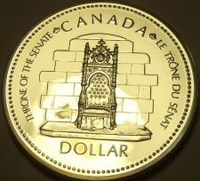 Buy Silver Proof Canada 1977 Dollar~Silver Jubilee~Throne~225,307 Minted~Free Ship