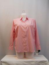 Buy Plus Size 1X Lauren Ralph Lauren Womens Shirt Striped Long Sleeves Collar Button