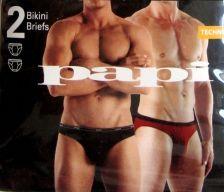 Buy X0327 Papi NEW Men's 2-Pack Techno Stretch Microfiber Logo Soft Bikini Briefs XL