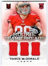 Buy NFL 2013 Panini Momentum Vance McDonald TRIPLE ROOKIE Jersey /299 MNT