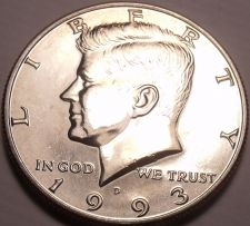 Buy United States Unc 1993-D Kennedy Half Dollar~Free Shipping