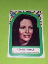 Buy VINTAGE 1977 CHARLIES ANGELS TELEVISION SERIES COLLECTORS STICKER CARD #21 GD-VG
