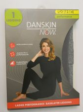 Buy Danskin Now Gray Ladies Performance Baselayer Leggings Size L 12-14 Tagless