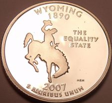 Buy Cameo Proof 2007-S Wyoming State Quarter~We Have Every State Quarter~Free Ship~