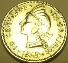 Buy Silver Dominican Republic 1963 10 Centavos~100th Anniv Restoration Republic~F/S*