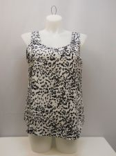Buy SIZE XL Womens Woven Tank Top FADED GLORY Animal Scoop Neck Sleeveless Pullover
