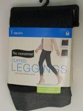 Buy SIZE M 8 10 Women Cuffed Denim Leggings NO NONSENSE Dark Denim Real Back Pocke