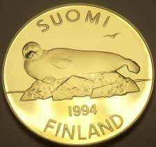 Buy Rare Proof Finland 1994 5 Markka~Lake Saimaa Ringed Seal~5,000 Minted~Free Ship