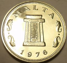 Buy Rare Proof Malta 1976 5 Cents~26,000 Minted~Temple of Hagar Qim~Free Shipping
