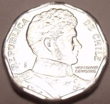 Buy Gem Brilliant Uncirculated Chile 2004 Peso~Gen. Bernardo O'Higgins~Free Shipping