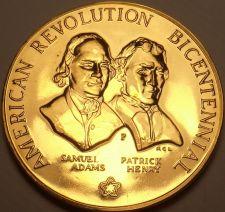 Buy Massive 1973 Gem Unc A-R-B Medallion~Samuel Adams~Patrick Henry~Free Shipping~