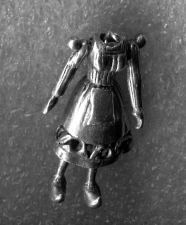 Buy Vintage Silver Headless Articulated Girl or Woman Charm