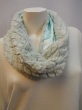 """Buy Faded Glory Mint Faux Fur All Occasion Solid Cowl Infinity Scarf Size 34""""X14"""""""