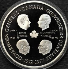 Buy Massive Silver Proof Canada 1977 Governors General Medallion~Save The Queen~Fr/S