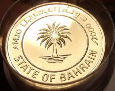 Buy Gem Unc Roll (50) State Of Bahrain AH-1420~2000~10 Fils~Palm Tree~Free Shiping