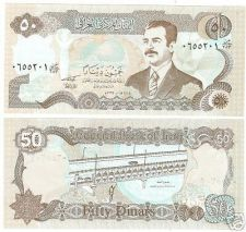 Buy IRAQ SADAAM HUSSEIN LARGE 50 DINARS UNC NOTE~FREE SHIP~