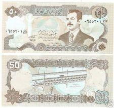 Buy IRAQ SADAAM HUSSEIN LARGE 50 DINARS UNC NOTE~FREE SHIP~