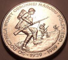 Buy Huge Gem Unc Poland 1989-MW 500 Zlotych~50th Anniversary Of World War II~Free Sh