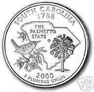 Buy 2000-P SOUTH CAROLINA BRILLIANT UNC STATE QUARTER