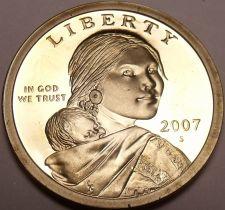 Buy United States 2007-S Sacagawea Cameo Proof Dollar~Free Shipping