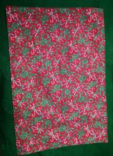 Buy Set of four (4) handmade cloth placemats Candy Canes on Red 100% Cotton