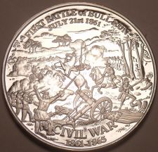 Buy Massive Silver Plated Civil War Proof Medallion~Battla Of Bull Run~Free Shipping
