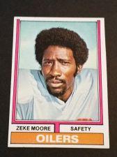 Buy VINTAGE ZEKE MOORE OILERS 1974 TOPPS FOOTBALL GD-VG