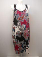 Buy PLUS SIZE 3X 22 24 Women Chemise SECRET TREASURES Paisley Print Lace Yoke Straps