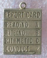 Buy vintage CHARM : ELEMENTARY SCHOOL (3 Rs) REPORT CARD : STERLING 925 SILVER