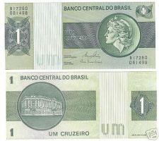 Buy BRAZIL 1 CRUZEIRO LIBERTY HEAD NOTE UNC~FREE SHIPPING~