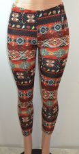 Buy Baslco Tribal Inspired Print High Waist Leggings, Red, One Size