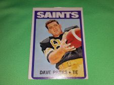 Buy VINTAGE DAVE PARKS SAINTS 1972 TOPPS FOOTBALL GD-VG