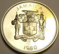 Buy Rare Proof Jamaica 1980 10 Cents~Only 2,688 Minted~Butterfly~Free Shipping