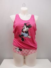 Buy DISNEY Womens 2PC Camisole Set SIZE 3XL Pink Minnie Tank Top Matching Panties