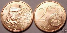 Buy UNCIRCULATED FRANCE 1999 2 EURO CENTS> HUMAN FACE>NICE!