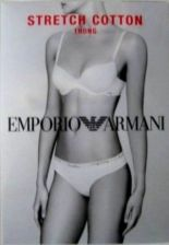 Buy A0568T Emporio Armani NEW Logo Waistband Cotton Thong 162093 With Certificate PR