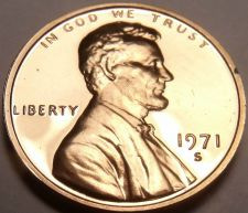 Buy BLAZING RED 1971-S EXTREMELY RARE PROOF LINCOLN CENT~FREE SHIPPING~