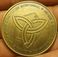 Buy Departmant Of Defense Constitution Bicentennial Medallion~39.2mm~Free Shipping