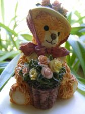 "Buy BAINBRIDGE BEARS FIGURINE-FAYE ""POSING WITH POSIES"""