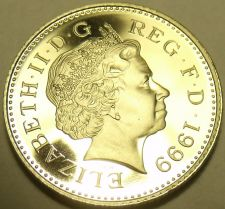 Buy Cameo Proof Great Britain 1999 10 New Pence~79,401 Minted~Proofs Are Best~Fr/Shi