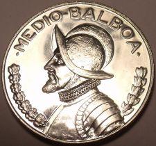 Buy Rare Silver Proof Panama 1967 Half Balboa~19,983 Minted