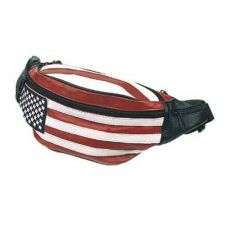 Buy Leather Hip Pack, USA Flag Bag