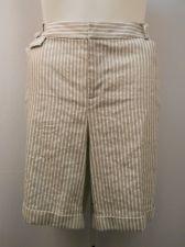 Buy INC Womens Shorts Plus Size 20W Striped Cuffed Legs Classic Rise 46X10 55% Linen