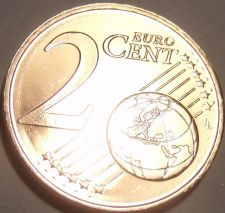 Buy Gem Unc Cyprus 2012 1 Euro Cent~Double Ram Design~Free
