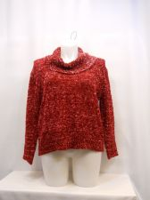Buy United States Sweaters Women's Sweater Size XL Solid Red Long Sleeves Cowlneck