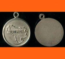 Buy ROUND VENEZUELA Souvenir Map Charm : STERLING SILVER