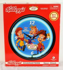 Buy Kellog's Rice Krispies Character Neon Clock