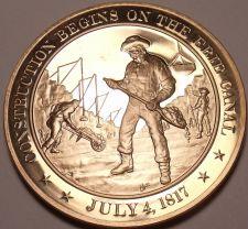 Buy 1817~WORK STARTS ON ERIE CANAL~ERA OF GOOD FEELINGS~FRANKLIN BRONZE~FREE SHIP~