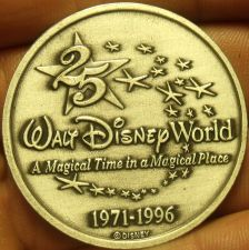 Buy Walt Disney World Gem Unc 1971-1996 25 Year Anniversary Medallion~Free Shipping