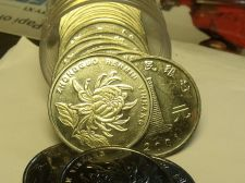 Buy Gem Unc Roll (20) China 2001 1 Won~Chrysanthemum~Edge Incription~Free Shipping